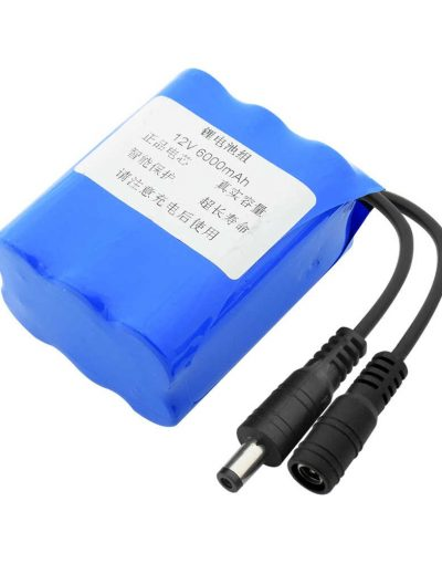 12V 6000mAh 18650 Li-ion Rechargeable Battery Pack
