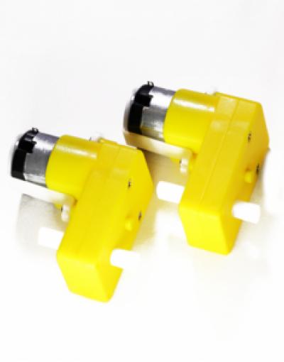 L Shape DC Gearbox Motors