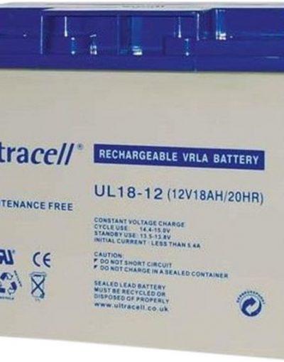 Ultracell Battery (UL18-12) Sealed Lead Acid Battery (12V,18A)