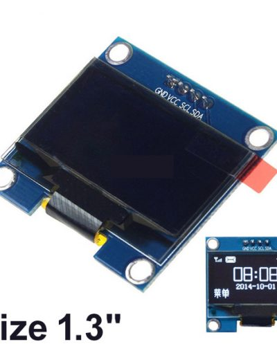 1.3″ OLED 4pin LCD LED Display Module I2C IIC Communicate – White 128×64