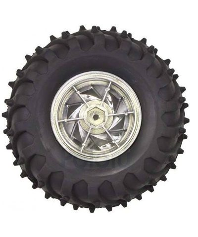 Robot Tires 120x60mm + Metal Coupler – Off Road (4 Wheel Set)